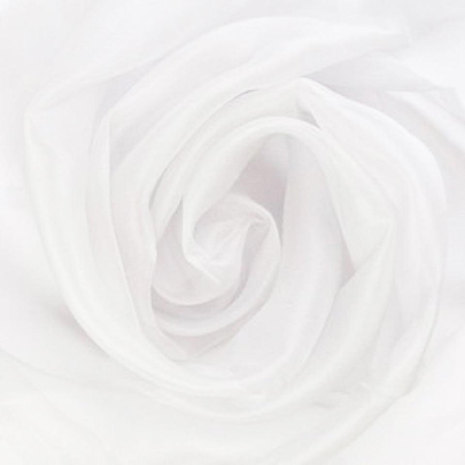 Cortina de Voil Liso Branco sem Forro - 6,00 x 2,40 - Para Varão Simples com Ilhós Cromado