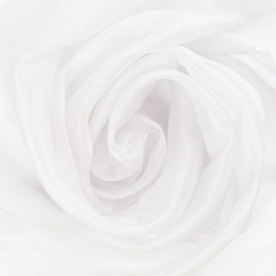 Cortina de Voil Liso Branco sem forro - 7,00 x 2,65 - Para Trilho Suíço Max Simples (L)