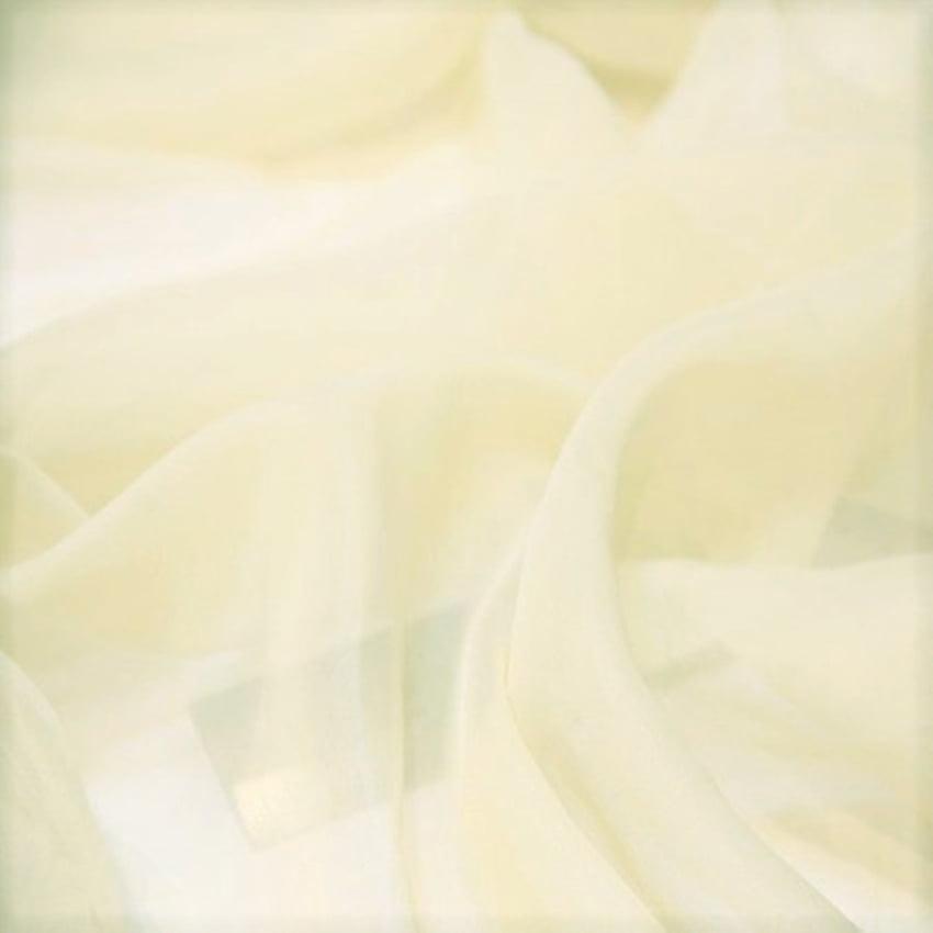 Cortina de Voil Liso Offwhite com Forro Microfibra Branco - 4,00 x 2,50 - Para Varão Simples com ilhós imbuia