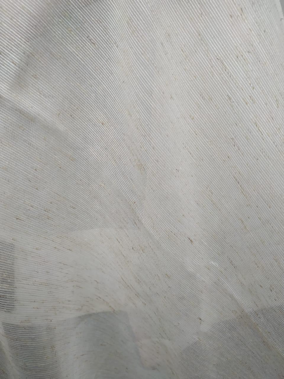Cortina de Voil Rústico com forro Blackout 70% Palha 8,00 x 2,60 - Para trilho suisso MAX Duplo (H)