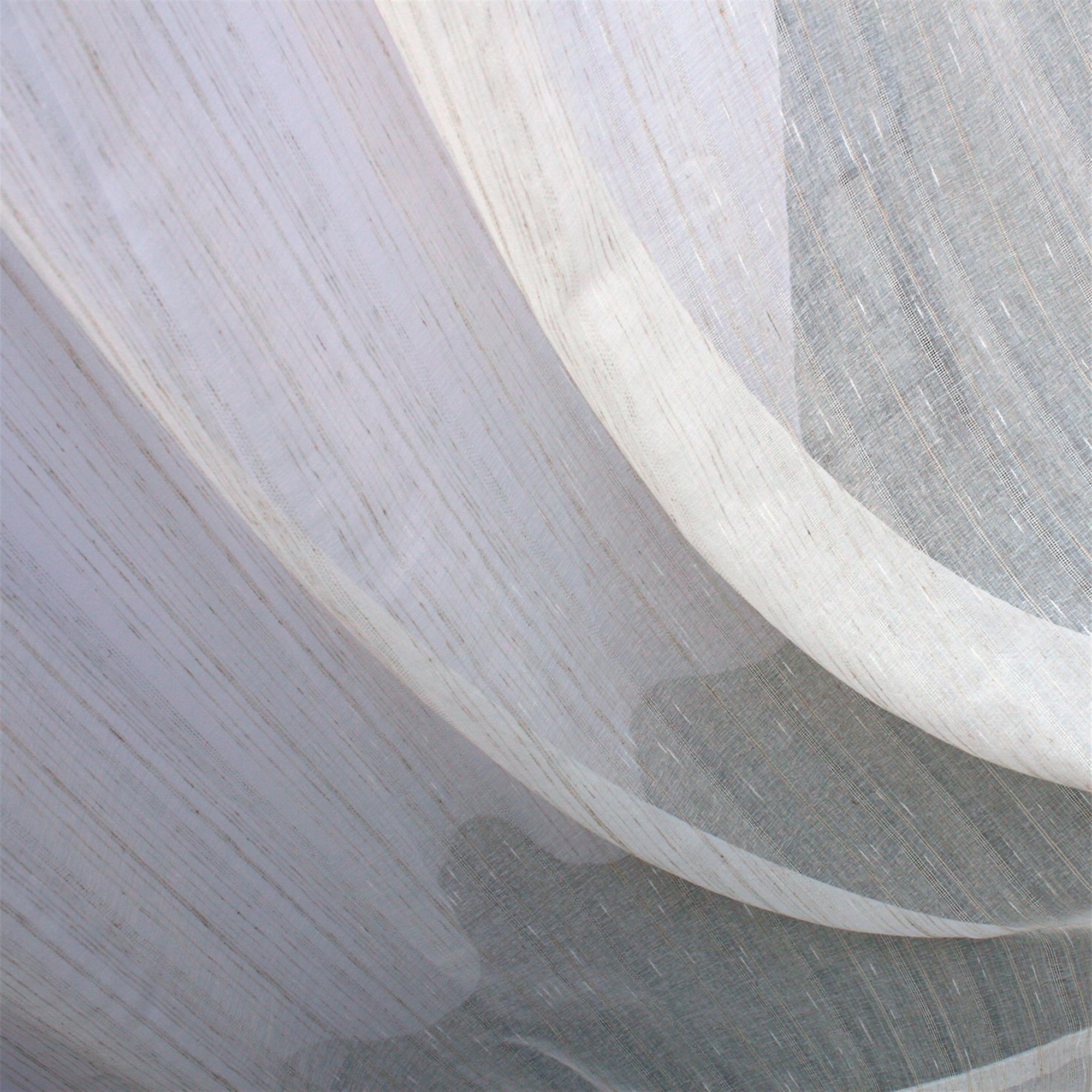 Cortina de Voil Rústico sem Forro - 8,10 x 2,84 - Para Trilho Suisso Max Simples