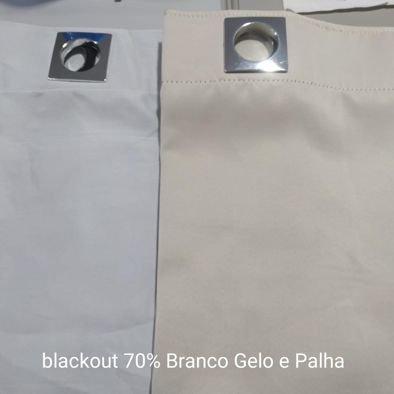 Cortina Voil Liso (azul) com forro Blackout 70% (Bco Gelo) Trilho - 8,10x3,57 F
