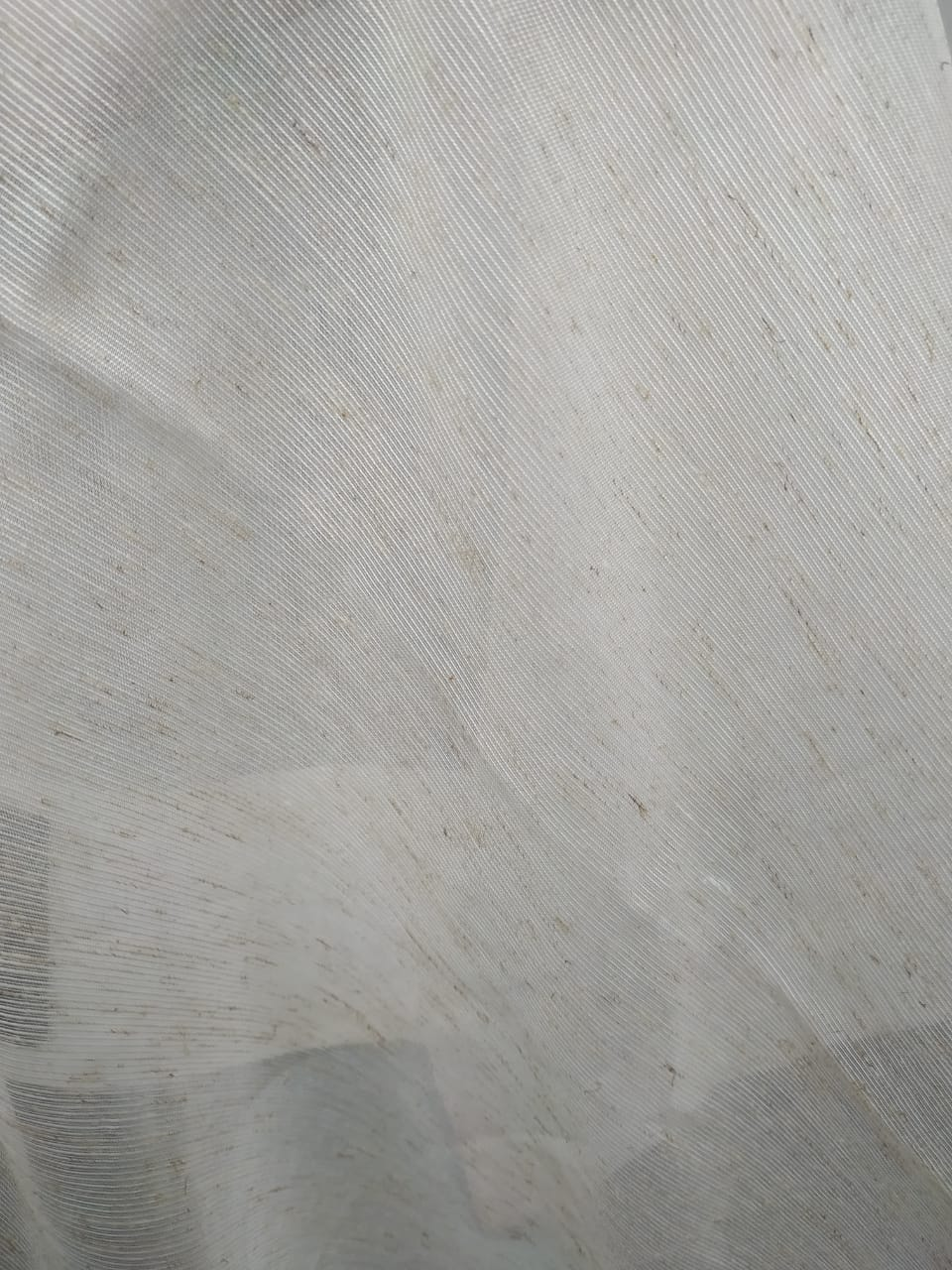 Cortina Voil Rustico com forro Blackout 70% Palha - Trilho 4,00x2,35 F