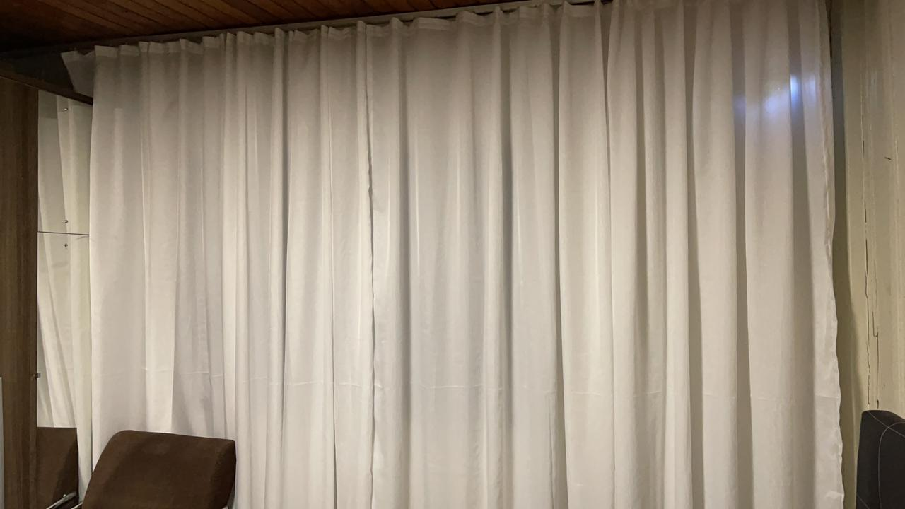 Gaze de Linho Branco com forro Microfibra Branco - Para Trilho Suiço Max Simples 5,00x2,39 F