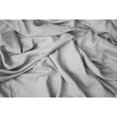 Cortina de voil liso cinza com forro microfibra cinza - 4,00 x 1,85 - Para Trilho Suíço Max Simples (L)