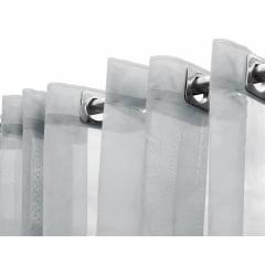 Cortina de Voil Liso Branco 6,00 x 2,70 - Para varã oSimpels com ilhós Branco (H)
