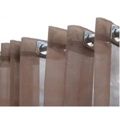 Cortina de Voil Luxo Sem Forro - Chocolate