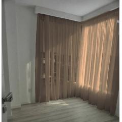 Cortina de Voil Liso Sem Forro - 7,00 Metros - Para Trilho Suisso Max Simples